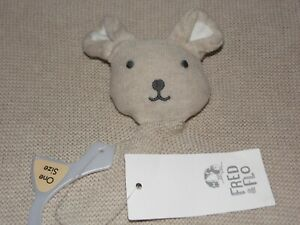 TESCO BROWN PUPPY COMFORTER SOFT TOY KNITTED BEIGE BUNNY BLANKIE FRED & FLO