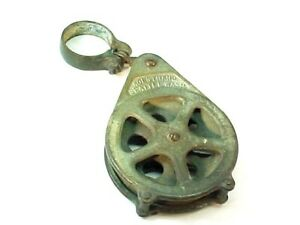 Great Kolstrand BRASS Fishing Pulley Commercial Boat  6.25""