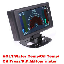 New 6in1 LCD Car Voltmeter Water Temp Oil Temp Oil Press Gauge w/Sensor Bracket