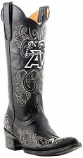 "Gameday Boots Women's 13"" Tall Black Leather Army SZ 8.5 MSRP 280$"