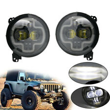 "9"" Inch LED Headlight White DRL Halo Angel Eyes for Jeep Wrangler JL 2018 2019"