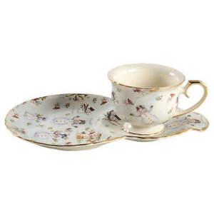 Coastline Imports Snowman Cream Tea & Toast Snack Plate & Cup Set 10954697