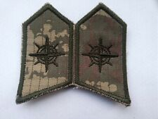 TURKISH ARMY DIGICAM COLLAR BADGES SET 2.