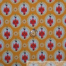 BonEful Fabric Cotton Quilt Yellow White Red Kitty Cat Flower Rooster SALE SCRAP