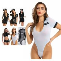 Sexy Women's Police Cop Fancy Dress Cosplay Officer Party Hat Outfit Set Costume