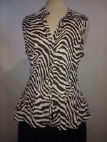 Woman's Blouse Sleeveless Size XL Crinkle Fitted Top By Sunny Leigh