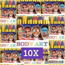 10X Face Paint 6 Colors Halloween Makeup Kids Adult Hand Zombie Dress Up Sticks