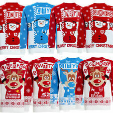 Mens Christmas Xmas Jumper Sweater Novelty Football Jumpers Ugly Pullover Santa