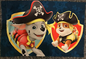 Paw Patrol Pillowcase Double-sided Pirates Rubble And Marshall!
