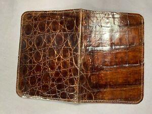 New Handmade Genuine Brown Alligator / Crocodile Passport Cover / Holder 3