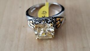 FASHION CRYSTAL RING,RHODIUM ,18K GOLD PLATED, Size 10, USA