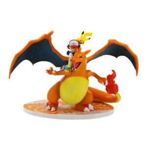 Limited Edition Charizard and Ash Pokemon Rare Collectible Statue Action Figure