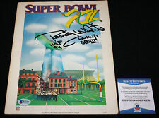 Randy White signed Super Bowl XII Program, Dallas Cowboys, Beckett BAS