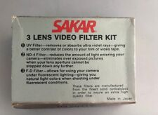 3 Lens Optical Glass Filter Kit Film Photography Video 49mm