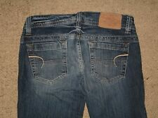 American Eagle Size 2 Short AE Artist Flare Dark Blue Stretch Denim Womens Jeans