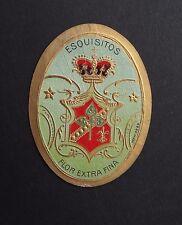 Ancienne étiquette BOITE DE CIGARE ESQUISTOS old box cigar label