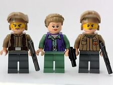 Princess Leia & 2 Resistance Troops Genuine LEGO Star Wars Minifigures NEW 75140