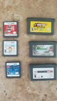 Gameboy Advance and Nintendo DS games Crazy Taxi, rockband, madden