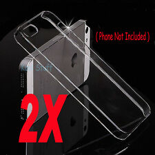 Crystal Clear Hard Snap-On Case Cover for Apple iPhone 5 5G 5S
