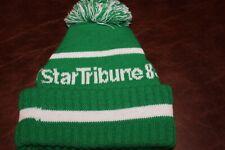 Minneapolis Star Tribune Newspaper 1989 Knit Cap Green & White RARE!!!