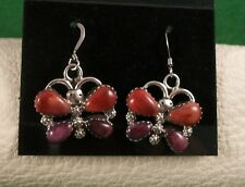 Spiney Oyster Earrings Butterfly Sterling Silver and