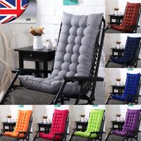 High Back Rocking Soft Warm Deck Seat Pads Office Garden Chair Cushions Recliner