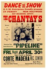 Surf: The Chantay's at Hollywood Rare Concert Poster 1963 13x19