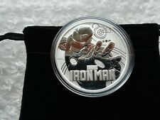 2018 Iron Man 1 oz Fine Silver Marvel Series Coin w/Capsule & Coin Pouch