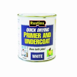 Rustins Primer & Undercoat Wood MDF White Quick Dry Under Coat Paint Base New