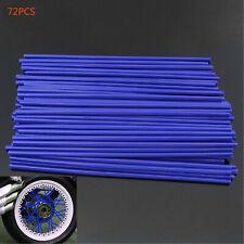 72Pcs Universal Motocross Motorcycle Dirt Bike Wheel Spoke Wraps Covers Blue