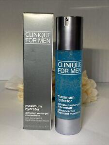 Clinique Men Maximum Hydrator Activated Water Gel Concentrate 3.2oz NIB FreeShip