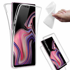 For Samsung Galaxy Note 9 Full Body 360° Silicone Gel Clear Dual Case Cover