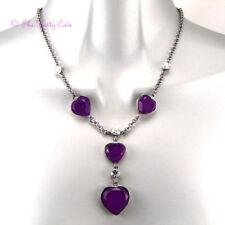 Modeschmuck-Halsketten & -Anhänger aus Glas und Legierung Liebe & Herzen