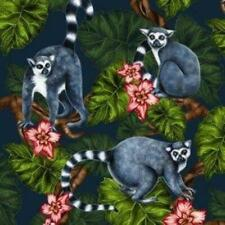 4 individual tropical lemur decoupage napkins, mixed media, scrapbooking, craft