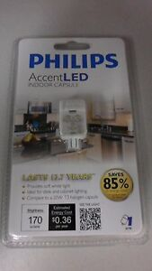 76 x PHILIPS ACCENT LED T3 20W 170 LUMENS CLEAR LIGHT INDOOR CAPSULE BULBS G4