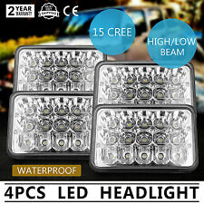 "4""x6"" LED Headlights CREE Light Bulbs Replace H4656/4651 Sealed Headlamp Set 4"