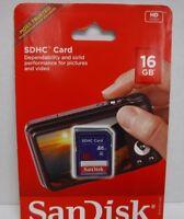 SanDisk 16GB 16 GB SD Class 4 Card Blue NEW