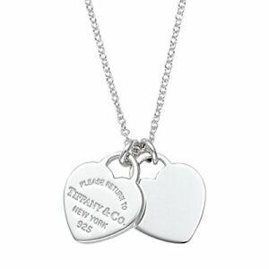 22309307 Tiffany & Co. Plata de Ley Rtt Doble Collar con Corazón Mini