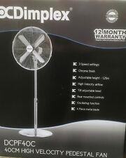 Dimplex 40cm High Velocity Floor Fan 3 Speed Settings DCPF40C NEW
