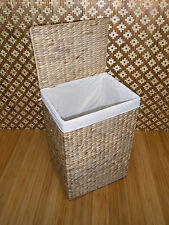 Wäschekorb Wäschebox Wasserhyazinthe Wäschetruhe Badhocker Aufbewahrung 199m