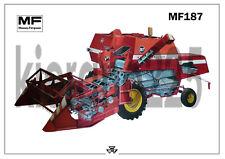 Vintage Massey Ferguson Tractor 187 Combine Poster Brochure Leaflet A3 VERY RARE