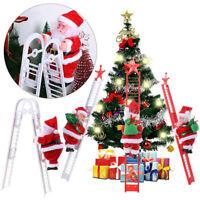 Electric Climbing Ladder Santa Music Xmas Christmas Claus Figurine Decor Party