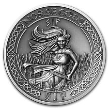 2016 Cook Islands 2 oz Silver High Relief Norse Gods: Sif - SKU #103093