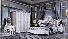 Italienisches Schlafzimmer Barock Rokoko Antik Stil Möbel 6tlg. Set Bett Schrank