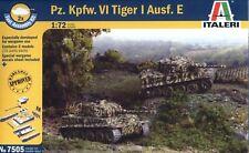 Italeri 1/72 7505 WWII German Pz.Kpfw.VI Tiger I Ausf.E (2 Fast Assembly Models)