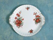 Royal Albert Centennial Rose Handled Round Cake Snack Dessert Platter Dish