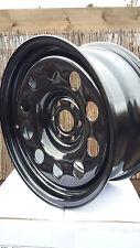 4 x 17 X 8 NISSAN NAVARA / PATHFINDER  6.114.3 PCD  BLACK MODULAR Steel Wheels