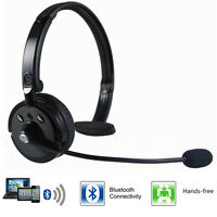 Over The Head Boom Mic Noise Canceling Bluetooth Headset For Trucker Drivers PS3