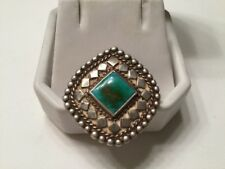 Vintage Handmade Sterling Silver Pendant with Turquoise Stone
