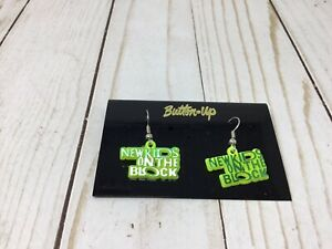 New Kids On The Block NKOTB Earrings GREEN AND YELLOW NEW